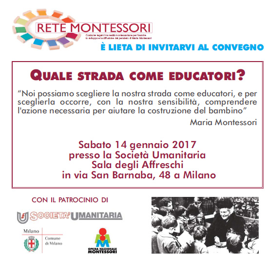 Convegno Rete Montessori - Gennaio 2017