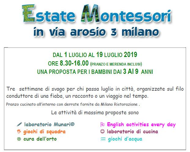 Estate Montessori 2019