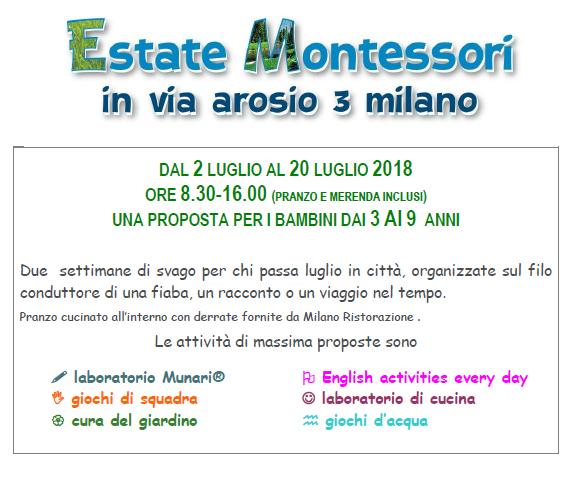 Estate Montessori 2018